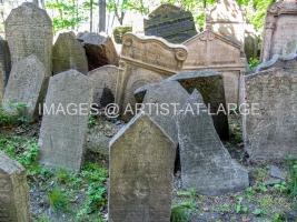 The Jewish Cemetery In Prague
